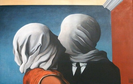 """Gli amanti"" o ""Les amants"" – 1928, olio su tela, 54×73 cm, New York, The Museum of Modern Art."