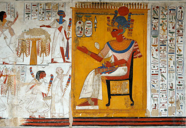 rameses-ii-in-a-egyptian-wall-painting-of-temple-of-beit-el-wali-ricardmn-photography